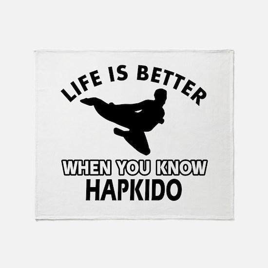 Hapkido Vector designs Throw Blanket