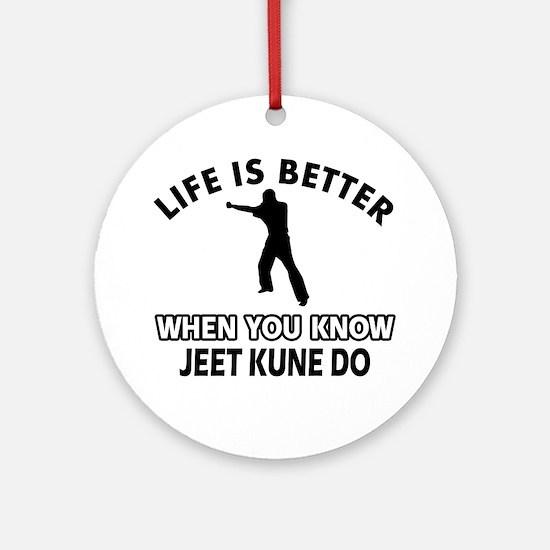 Jeet Kune Do Vector designs Ornament (Round)