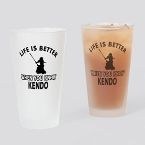Kendo Vector designs Drinking Glass