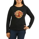 Hot Celtic Dragonfly Women's Long Sleeve Dark T-Sh