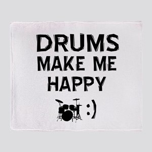 Drums musical instrument designs Throw Blanket