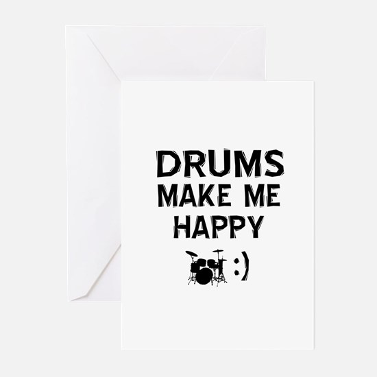 Drums musical instrument designs Greeting Cards (P
