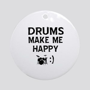 Drums musical instrument designs Ornament (Round)