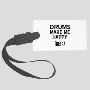 Drums musical instrument designs Large Luggage Tag