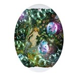 ENCHANTED MAGICAL GARDEN Ornament (Oval)