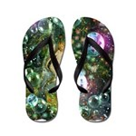 ENCHANTED MAGICAL GARDEN Flip Flops