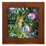 ENCHANTED MAGICAL GARDEN Framed Tile