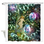 ENCHANTED MAGICAL GARDEN Shower Curtain