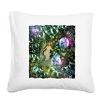 ENCHANTED MAGICAL GARDEN Square Canvas Pillow