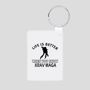 Krav Maga Vector designs Aluminum Photo Keychain