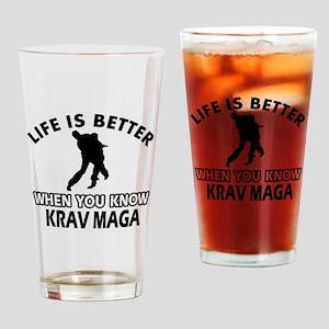 Krav Maga Vector designs Drinking Glass