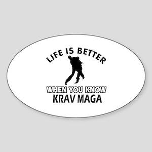 Krav Maga Vector designs Sticker (Oval)