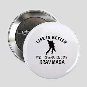 """Krav Maga Vector designs 2.25"""" Button"""