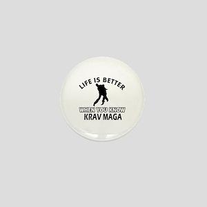 Krav Maga Vector designs Mini Button