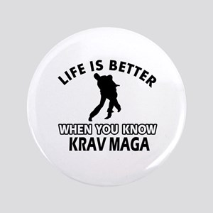 "Krav Maga Vector designs 3.5"" Button"
