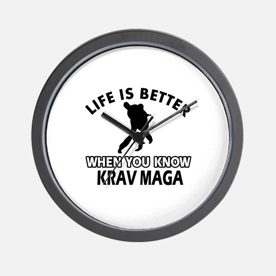 Krav Maga Vector designs Wall Clock