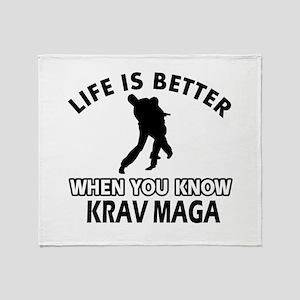 Krav Maga Vector designs Throw Blanket