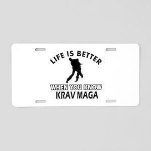 Krav Maga Vector designs Aluminum License Plate