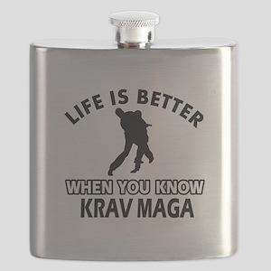 Krav Maga Vector designs Flask