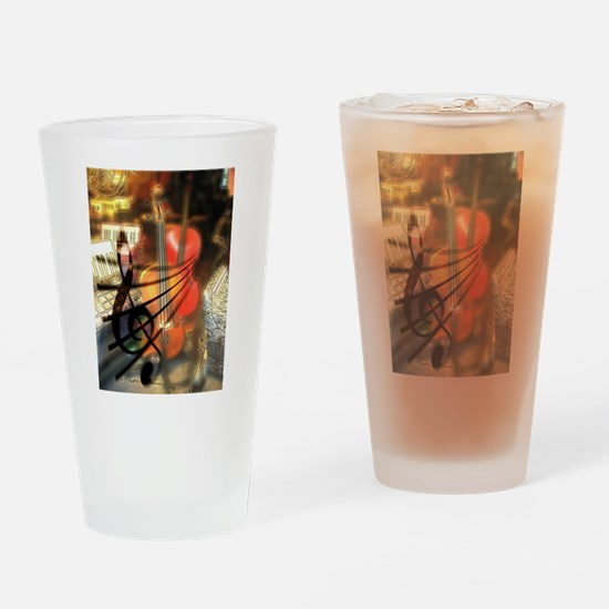 Violin in Abstract Artwork Design Drinking Glass
