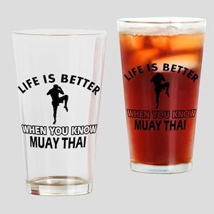Muay Thai Vector designs Drinking Glass