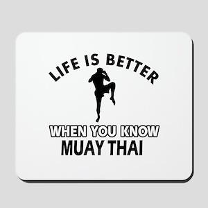 Muay Thai Vector designs Mousepad