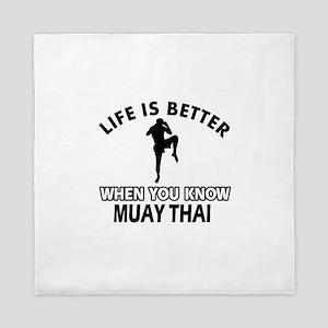 Muay Thai Vector designs Queen Duvet