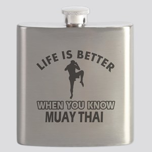 Muay Thai Vector designs Flask