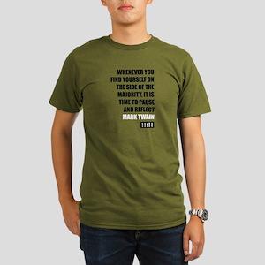Mark Twain Majority   Organic Men's T-Shirt (dark)