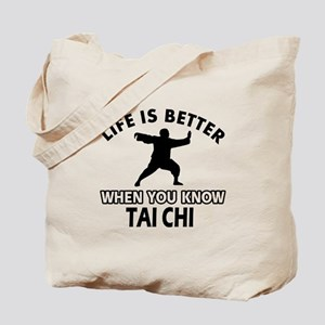 Tai Chi Vector designs Tote Bag