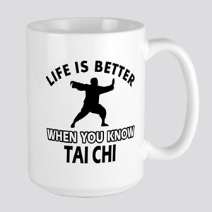 Tai Chi Vector designs Large Mug