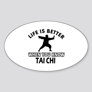 Tai Chi Vector designs Sticker (Oval)