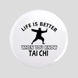 """Tai Chi Vector designs 3.5"""" Button"""
