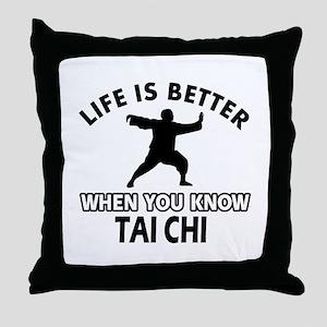 Tai Chi Vector designs Throw Pillow