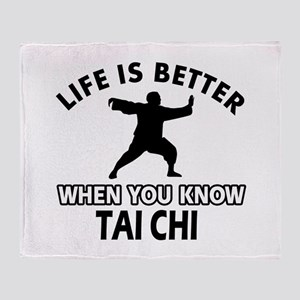 Tai Chi Vector designs Throw Blanket