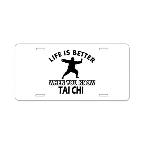 Tai Chi Vector designs Aluminum License Plate by funtasteez