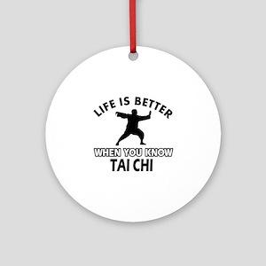 Tai Chi Vector designs Ornament (Round)