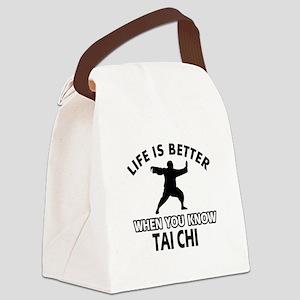 Tai Chi Vector designs Canvas Lunch Bag