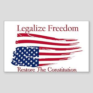 Legalize Freedom, Restore the Constiution Sticker
