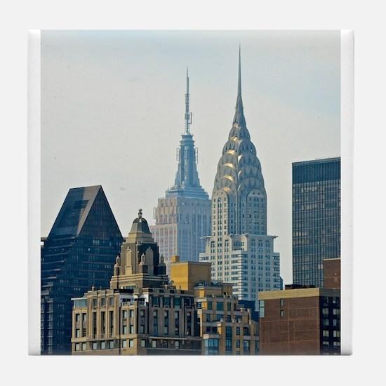 New York City Skyscrapers Tile Coaster