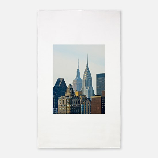 New York City Skyscrapers 3'x5' Area Rug