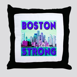 Boston Strong Skyline Throw Pillow