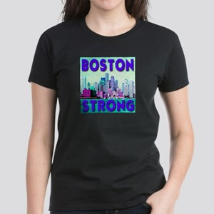 Boston Strong Skyline Women's Dark T-Shirt