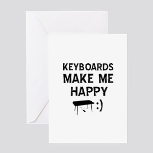 Keyboards musical instrument designs Greeting Card