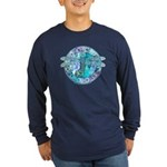 Cool Celtic Dragonfly Long Sleeve Dark T-Shirt