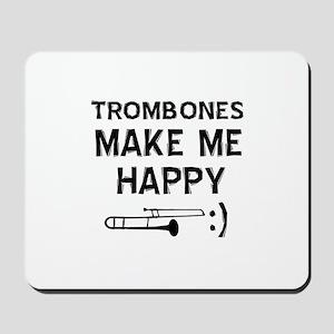 Trombones musical instrument designs Mousepad