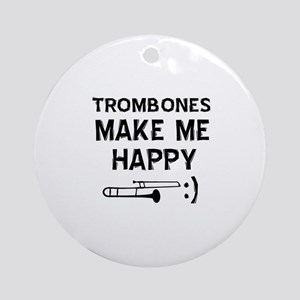 Trombones musical instrument designs Ornament (Rou