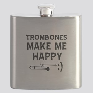 Trombones musical instrument designs Flask