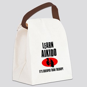 Aikido silhouette designs Canvas Lunch Bag