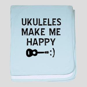 Ukukeles musical instrument designs baby blanket